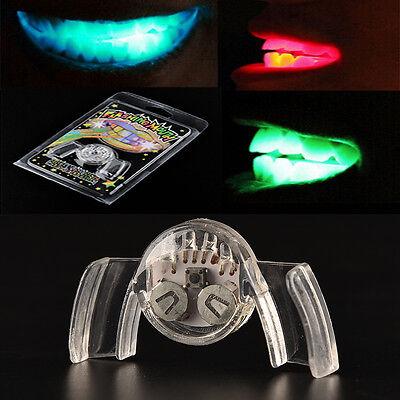 Blinkende Zähne Mundlicht Mundstück Glow Tooth Party LED Mundschutz ZP