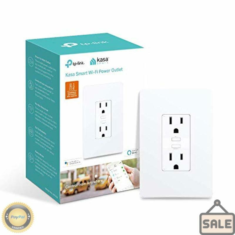 Kasa Smart Plug by TP-Link In-Wall Smart Home WiFi Outlet Works with Alexa