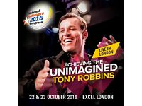 Last Tickets Available for TONY ROBBINS Live in London 22/23 October