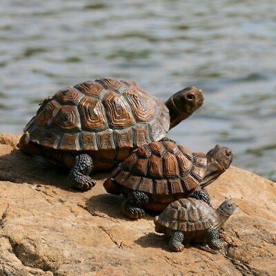 Yard Garden Turtle Ornament Outdoor Decor Tortoise Resin Animal Statue Pool Pond