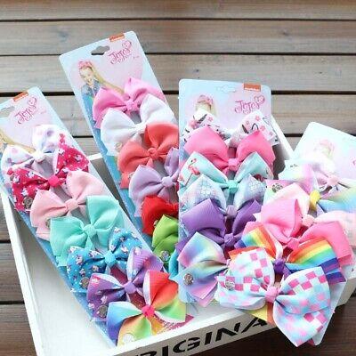 6X Girls Baby Child Hair Accessories Handmade Side Bow Alligator Clip JOJO SIWA