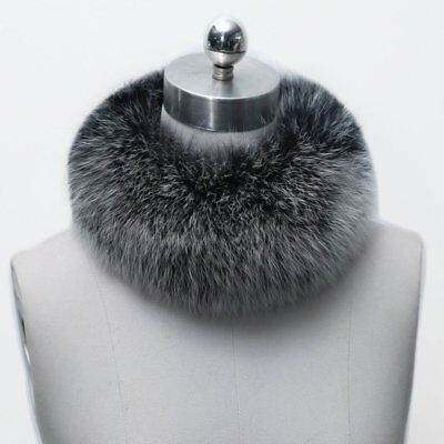 (USA Womens Fluffy Faux Fur Collar Neck Cape Neck Winter Scarf Shawl Stole Wrap )
