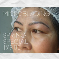 Microblading Services **Spring Special 199.00""