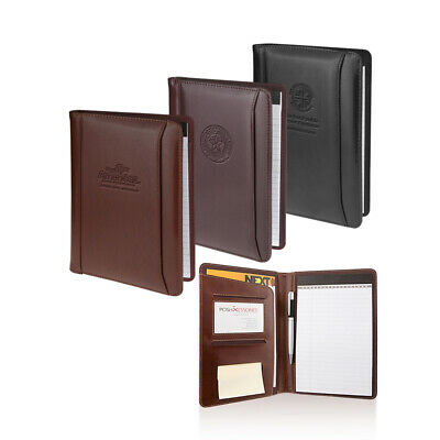 Italian Tuscan Leather Business Junior Padfolio Portfolio Organizer 3 Colors