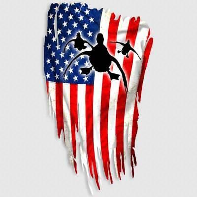 Duck Hunting Decal American Flag Window Truck Gun Safe Waterfowl Sticker