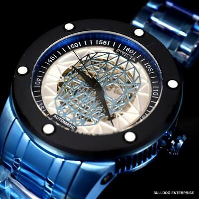 Invicta Speedway Skull Sketonized Blue Stainless Steel Automatic 51mm New