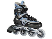 2 pairs in line skates, size 10 and 11