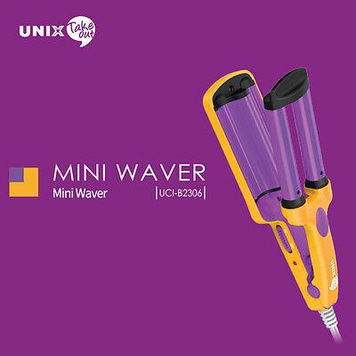 New UNIX Take Out Mini Wave Iron UCI-B2306 Styler 220V Round Travel Hair Styling