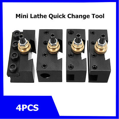 Mini Quick Change Tool Post Holder Kit Set Boring Blade Turning Facing Holder