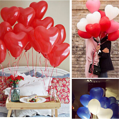 Heart Shaped 10Pcs Latex Multicolor Balloons Birthday Wedding Party Decoration