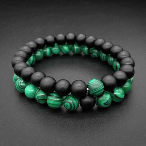 2 PCS//Set Couples Bracelet Friendship Relationship Beads Strength Wristband Gift