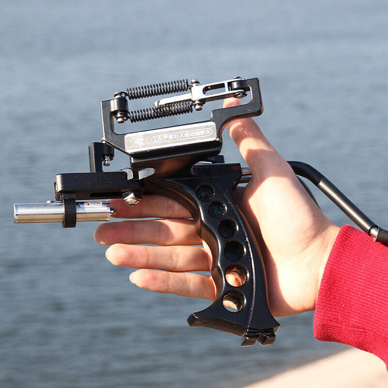 Pro Fish Shooter Slingshot Heavy Duty High Velocity Catapult Laser Shoot Set