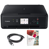 Canon PIXMA TS5020 Wireless Color Photo Printer Black with Paint Shop Bundle