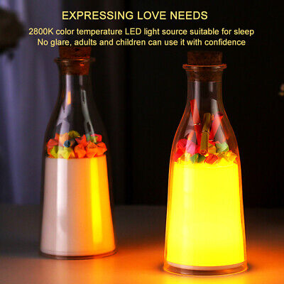 Drifting Bottle Rechargeable USB Night Light Lamp Room Bar Wedding Xmas (Best Halloween Indoor Decorations)