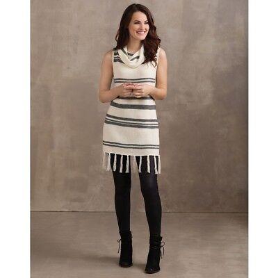Mud Pie H7 Women's Fashion Hartley Sleeveless Turtleneck 8513136WH Choose Size ()
