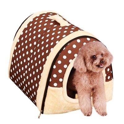 Abnehmbar Warm Haustier Hund Haus Kennel Soft Bett Höhle Katze Nest Hundekorb DE