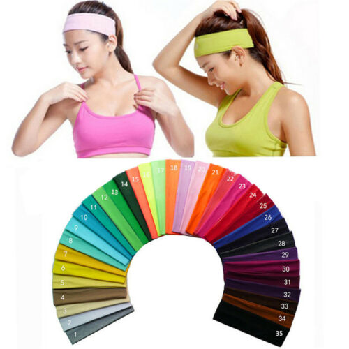 Baumwolle Stretch Stirnbänder Laufen Yoga Schweiß Haarbänder Haarband fu