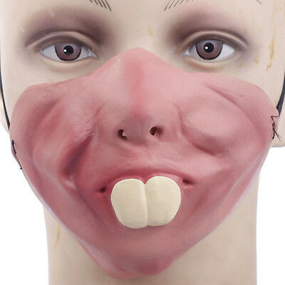 Latex Half Face Big Teeth Mask Fancy Dress Stag Night Novelty Bunny Rabbit Teeth](Bunny Teeth Halloween)