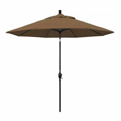 California Umbrella 9' Patio Umbrella in Woven Sesame