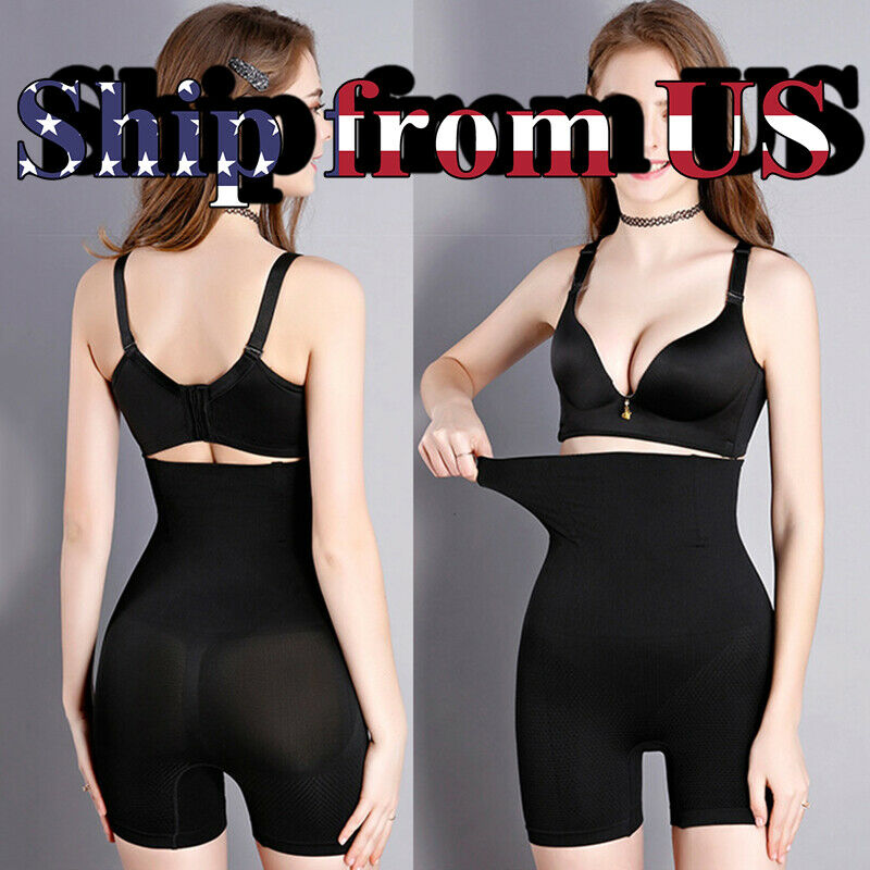 Women's Fajas High Waist Shorts Girdle Pants Body Shaper Tummy Control Shapewear Clothing, Shoes & Accessories