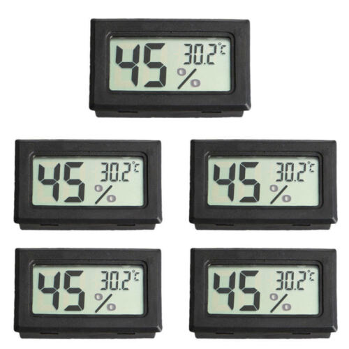 5x Pack Digital LCD Indoor Temperature Humidity Meter Thermometer Hygrometer US