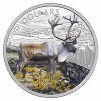 1 OZ. FINE SILVER COIN - THE CARIBOU - MINTAGE: 8,500 (2014)