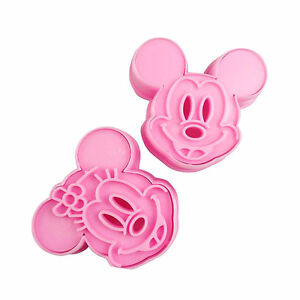 【Mickey Mouse Cookie Cutter Mold Set (2Pcs)】