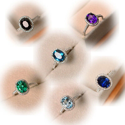 Classy and Gorgeous Purple Green Blue Topaz Wedding Ring 925 Silver Jewelry Gift](Green And Blue Wedding)