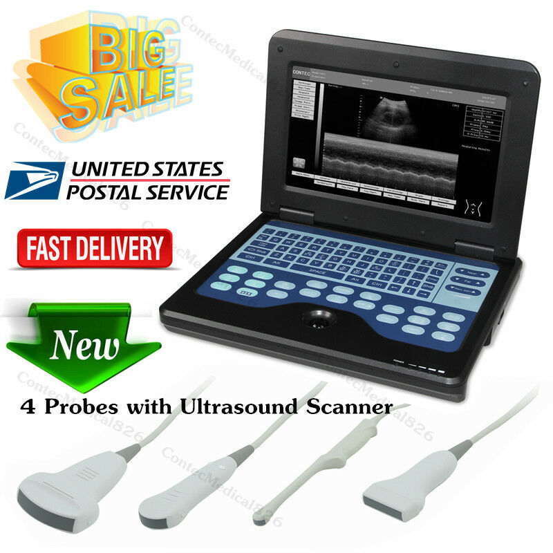 NEW PORTABLE ULTRASOUND SCANNER LAPTOP MACHINE CONVEX/LINEAR/CARDIAC/TRANVAGINAL,USA
