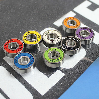 8 pcs/lot 608ZB ABEC-11 Carbon steel bearing for skateboard speed board colorful for sale  China