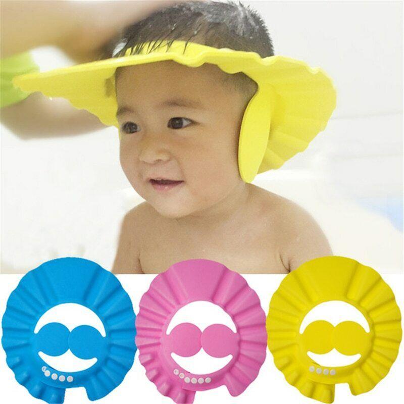 Kid Safe Soft Wash Hair Baby Shampoo Cap Shield Protector Eye Bath Hat