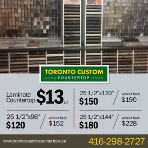 LAMINATE COUNTERTOPS From $13