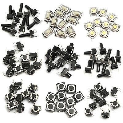 140x Microswitch Tactile Push Button Switch Micro Smd Smt Tact Switches 10 Types