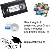 VHS to DVD / Photo Scanning for your Grad this 2017!