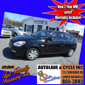 2007 Hyundai Accent Hatchback Loaded Up Sunroof $3995 New MVI