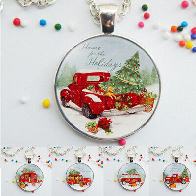 Christmas Tree Glass Necklace Pendant Wearable Art Animal Jewelry Gift ()
