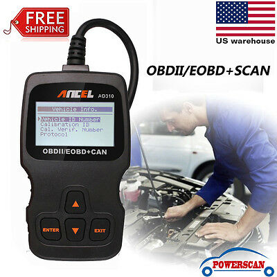 EOBD OBD2 OBDII Car Scanner Auto Diagnostic Live Data Code Reader Check Engine