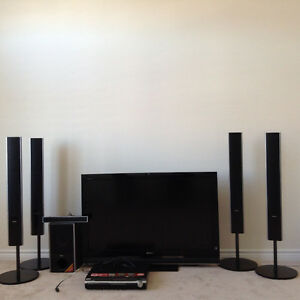"""Sony 46"""" Tv KDL 46S4100and Sony home theater system DAV HDX975WF"""