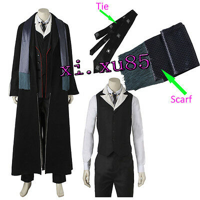 Percival Graves Cosplay Costume Halloween Full Set Outfit Cosplay Custom Made - Grave Halloween Full