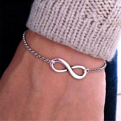Metall Armband Freundschaft infinity unendlich charm silber Geschenk Trend (Freundschaft Charm Armbänder)