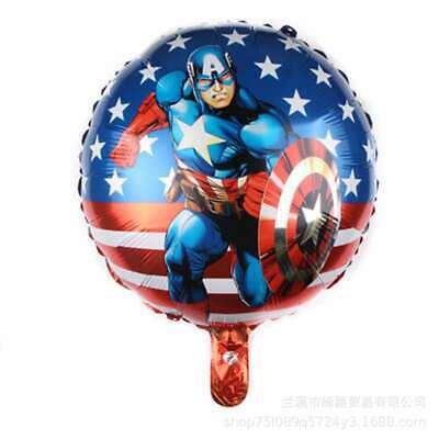 6 balloons Captain America Happy Birthday Party decoration](Captain America Birthday)