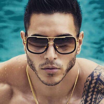 Mens Big Frame Sunglasses Fashion Celebrity Large Square Men Women Retro (Mens Celebrity Fashion)