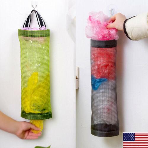 Plastic Grocery Bag Holder Storage Dispenser Wall Mount Kitc