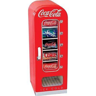 Coca-Cola 10 Can Vending Refrigerator, Counter Top Coke Soda Beer Novelty Fridge