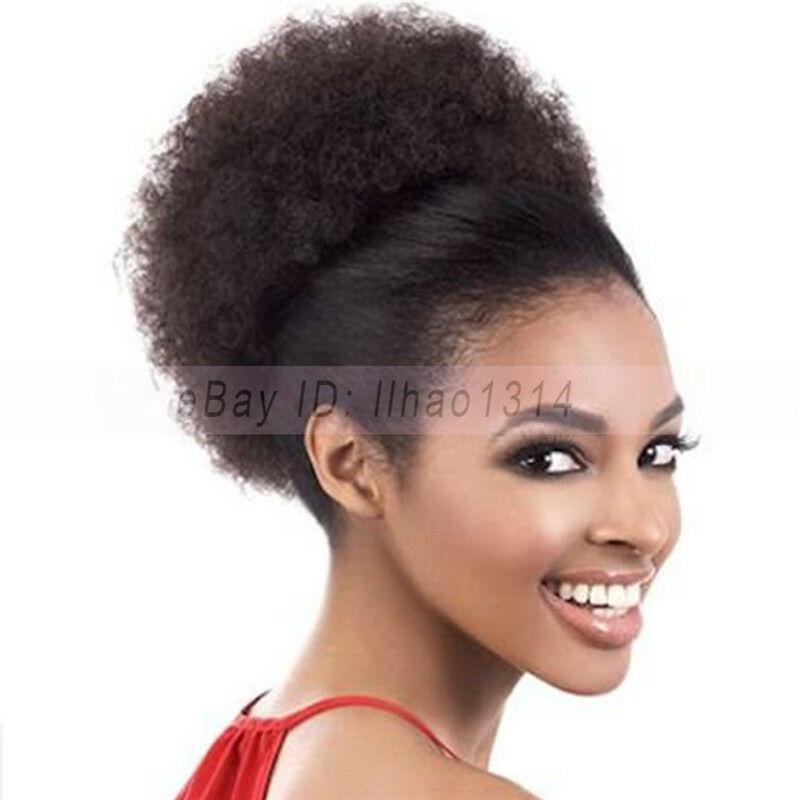 2-6 Days Delivery Large Hair Buns Afro Puff Curl Drawstring