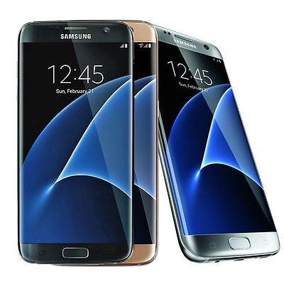 Samsung Galaxy S7 EDGE (Verizon / Straight Talk / Unlocked ATT GSM) Gold Black