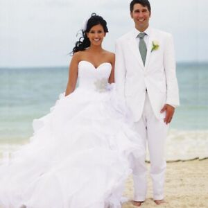 Stunning Wedding Dress with Bling and a Sweetheart Front!