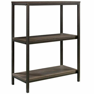 Sauder North Avenue 2 Shelf Bookcase in Smoked Oak 2 Shelf Oak Bookcase