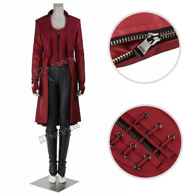 The Avengers Captain America Scarlet Witch Wanda Maximoff Cosplay Costume - Wanda Maximoff Costume