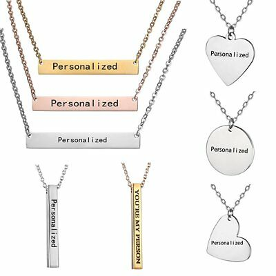 Personalized Engraved Custom Your Name Stainless Steel Necklace Pendant Jewelry (Personal Necklaces)
